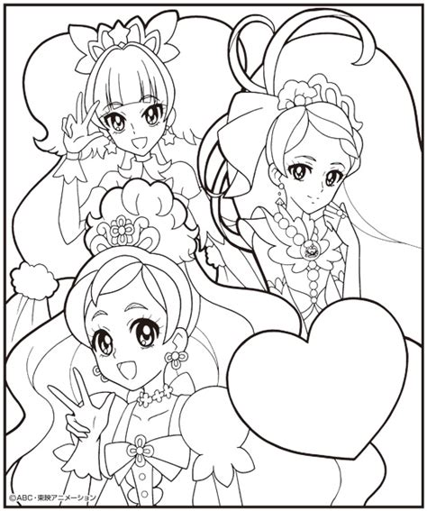 go templates for pages go princess precure pages coloring pages
