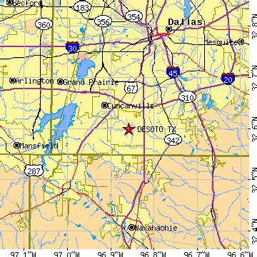 map of desoto texas desoto texas tx population data races housing economy
