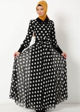 puantiyeli şifon elbise modelleri ortuluyum.com