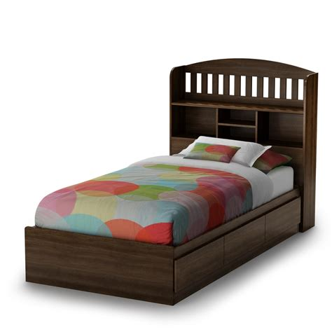bed with headboard twin bed with storage and bookcase headboard native home
