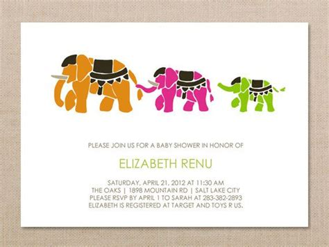 indian baby shower invitation cards templates indian elephant invitation baby shower invitation