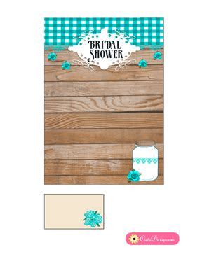 Rustic Bridal Shower Invitation Templates Free Printable Rustic Bridal Shower Invitation Templates