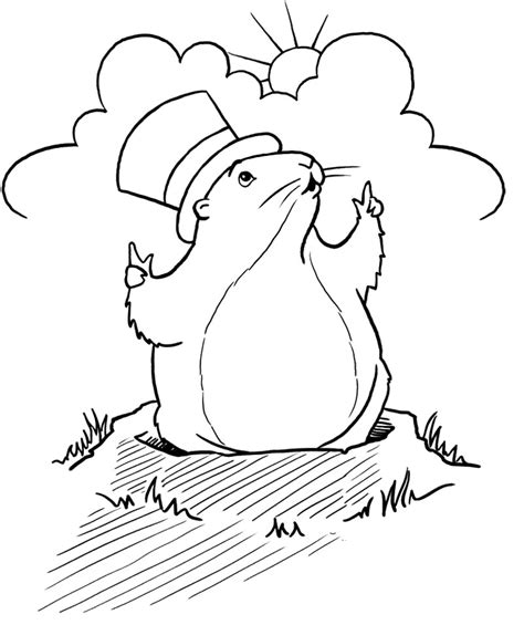 groundhog day sheet groundhog day coloring page on groundhog day