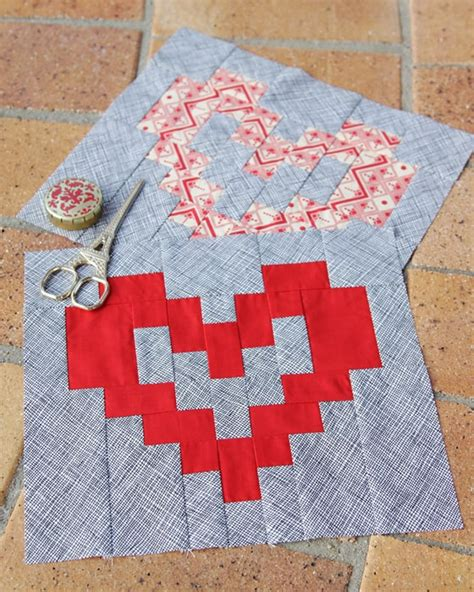 heart shaped quilt pattern valentine s heart block pattern bonjour quilts