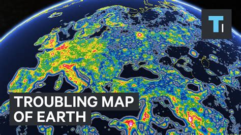 light pollution map earth troubling map of earth showing light pollution