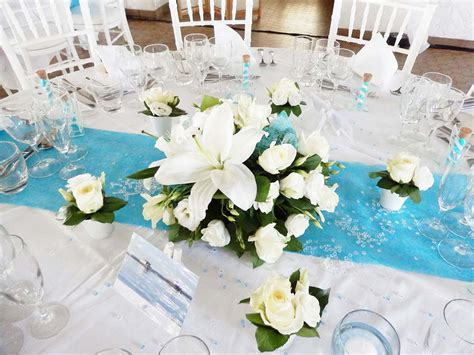 Decoration Table Mariage by Deco Mariage Turquoise Et Argent Le Mariage