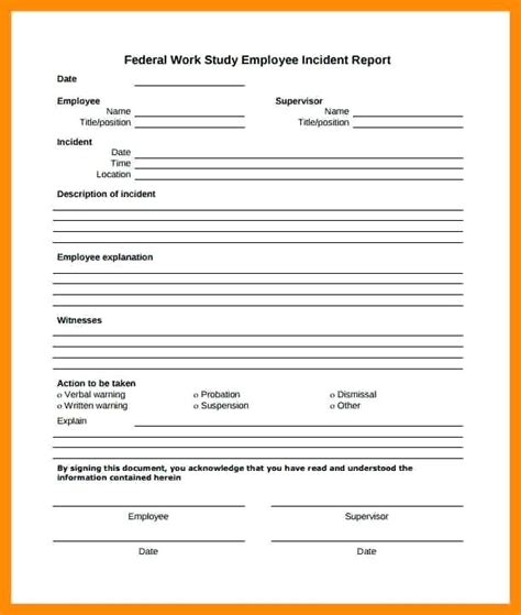 incident report form template qld construction incident