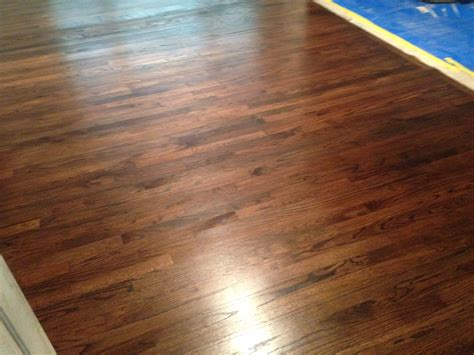 Red Oak Wood Flooring Refinishing in Englewood