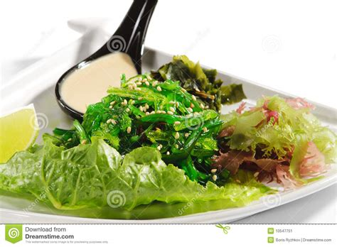 cuisine japonaise sant algue japonaise de salade de cuisine image stock image