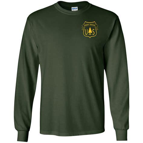 hoodie t forest service flag t shirt usfs tee t shirt long sleeve