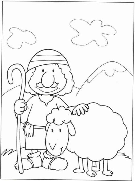 sheep coloring pages shepherd and sheep page coloring pages