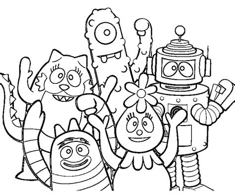 yo gabba gabba sheets az coloring pages