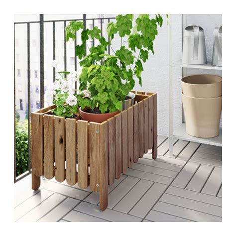 Ikea Planter Box by Askholmen Flower Box Grey Brown Stained Ikea