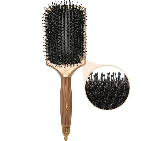 boar bristle hair brush for hair care hair growth cool natural boar bristles paddle brush