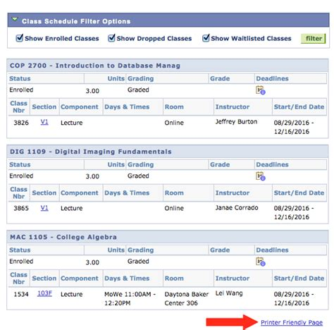 State Mba Class Schedule by View Class Schedule