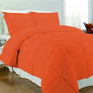 Bedding Sets Orange Rise Shine Orange And White Comforter Bedding Sets
