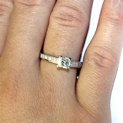 princess cut promise ring on from beautiful