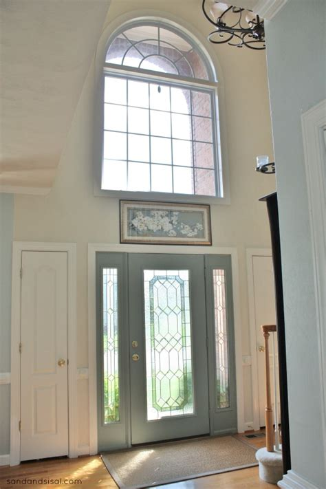 Blue Gray Front Door When Oyster Bay And Retreat Meet Sand And Sisal