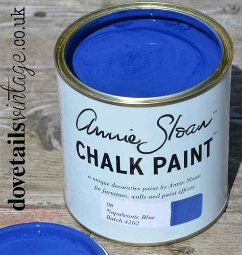 chalk paint napoleonic blue napoleonic blue chalk paint by sloan 1 litre pot