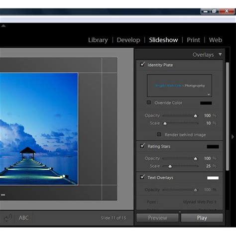 lightroom tutorial slideshow how to create photo slideshows using adobe lightroom