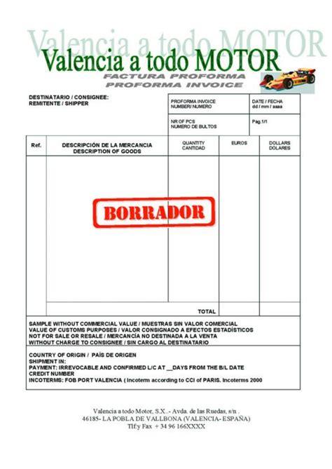factura proforma o carta de oferta factura proforma monografias