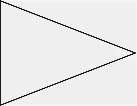triangle banner template clipart