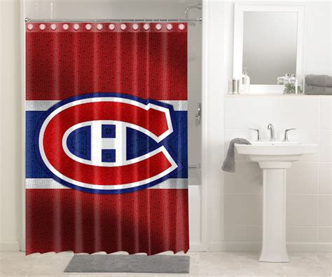 shower curtains montreal montreal canadiens nhl hockey 319 shower curtain