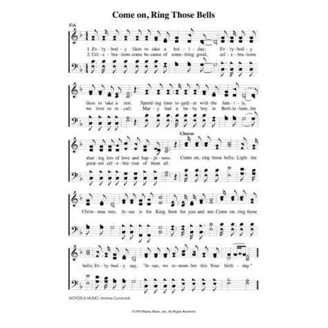 Wedding Bell Tab Pdf by Come On Ring Those Bells Pdf Song Sheet