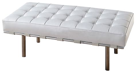white leather benches white leather bench event rental