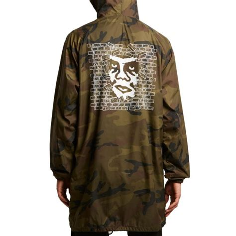 Hooded Trench Jacket obey creeper wall hooded trench jacket camo