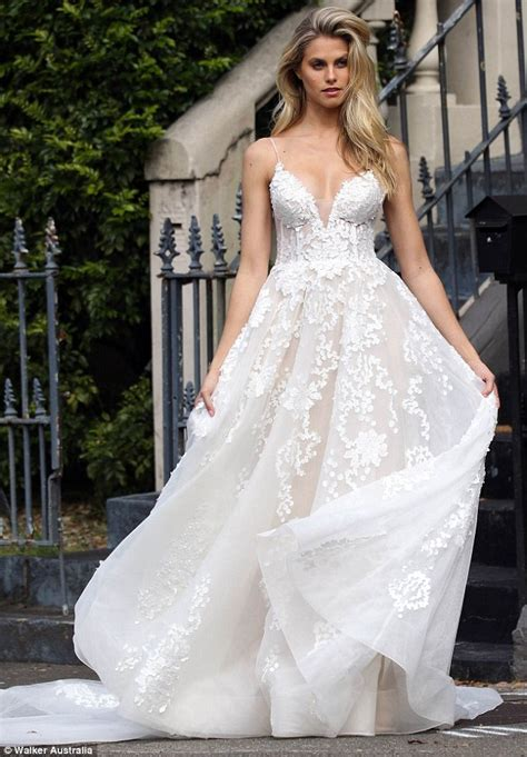 Nathalie Dress natalie roser stuns in a lace princess style wedding gown