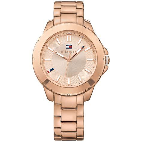 Hilfiger 1781439 Rosegold Pink hilfiger s gold tone stainless steel bracelet 38mm 1781414 in pink