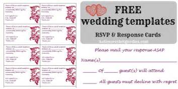 Wedding Rsvp Cards Template Free by Free Wedding Templates Rsvp Reception Cards S
