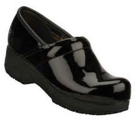 work clogs for s skechers work 76501 glossy black tone ups slip