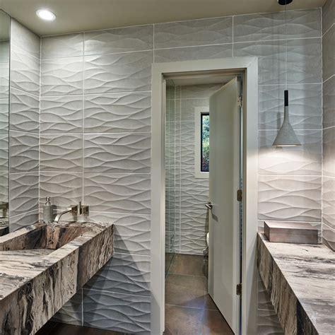 wavy bathroom tile photos hgtv