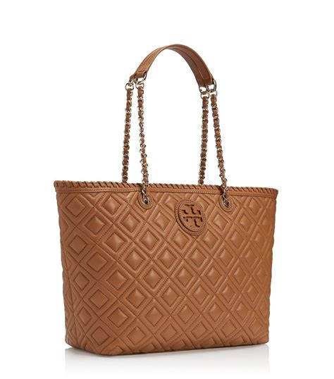 Burch Quilt Small Totepo burch marion quilted small tote in brown tigers eye