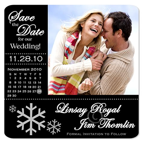 winter save the date magnets
