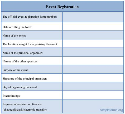 Registration Card Template Word by Registration Form Sle For Event