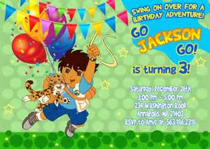 go diego go birthday invitation printable file