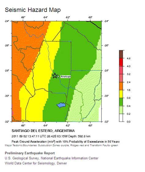 san jose seismic hazard map magnitude 6 7 santiago estero argentina 02 sep 11