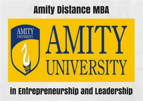 Amity Executive Mba by Amity Distance Mba In Entrepreneurship And Leadership