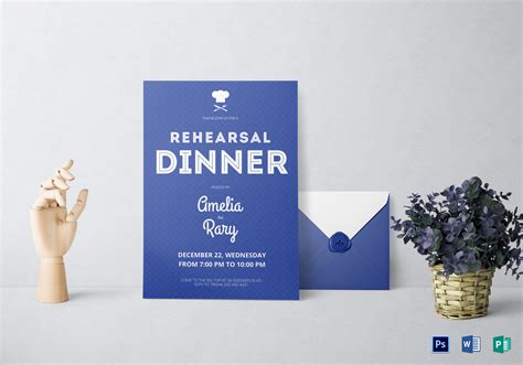 Rehearsal Dinner Invitation Design Template In Word Psd Publisher Microsoft Word Rehearsal Dinner Invitation Template