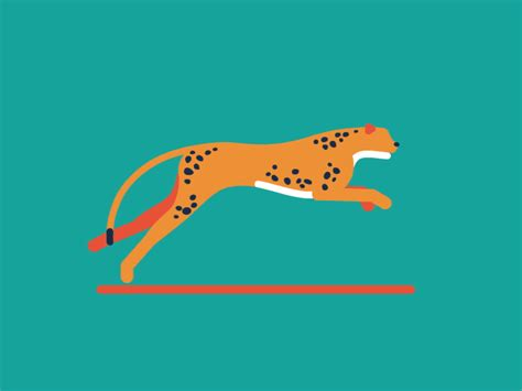 blow up boat gif cheetah by animade dribbble