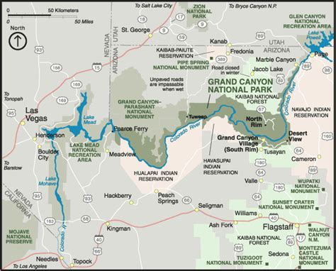 usa grand map map of arizona map of grand national park