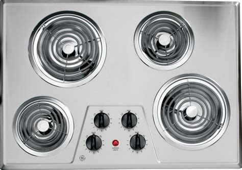 30 in electric cooktop ge 30 inch built in electric cooktop in stainless steel