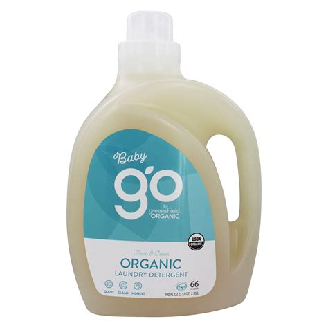 Organic Laundry Soap buy greenshield organic go baby liquid laundry detergent 66 loads free and clear 100 fl oz