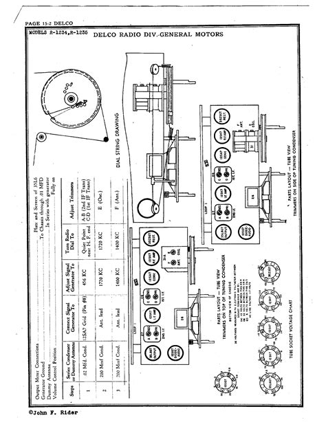 delco model 15071234 radio wiring diagram delco am radio