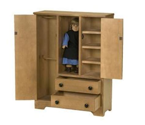 wooden american girl armoire plans deluxe wood wardrobe for 18 quot dolls amish handmade wooden