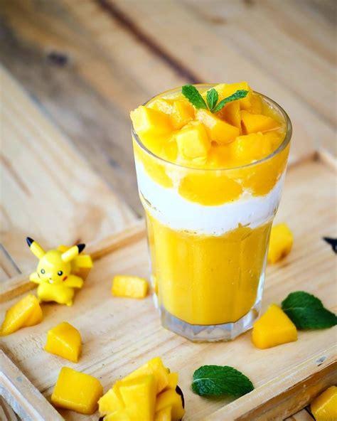 cara membuat jus mangga smooties segar traveling dan cara membuat jus mangga kekinian mango thai mudah dan murah