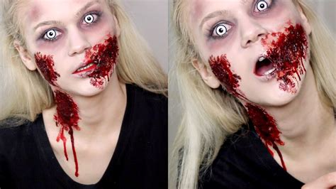 zombie girl makeup tutorial zombie girl sfx makeup tutorial halloween youtube